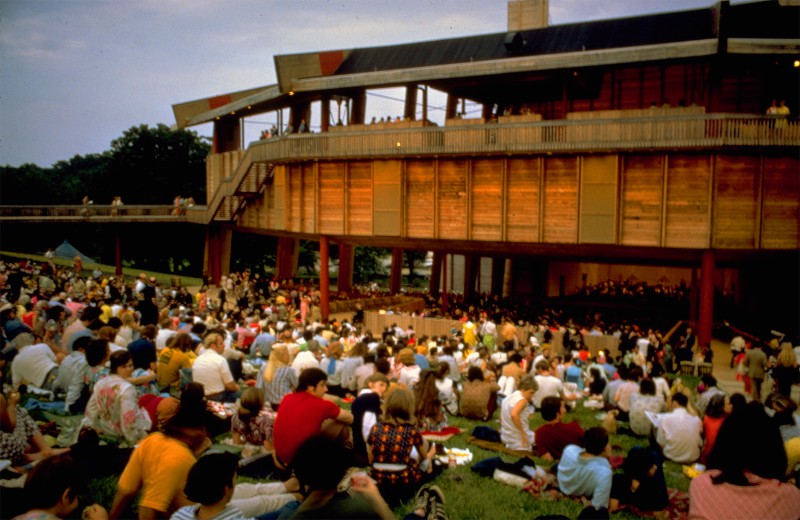 View of Audience Outdoors at Wolf Trap National Park for the Performing Arts