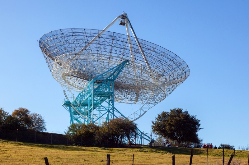 "Picture of the radiotelescope ""The Dish"" at Stanford University"