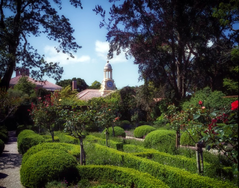 View of the world-renowned 16-acre formal garden at Filoli in Woodside, CA.