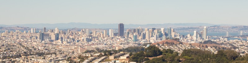 San Francisco skyline from San Bruno State Park