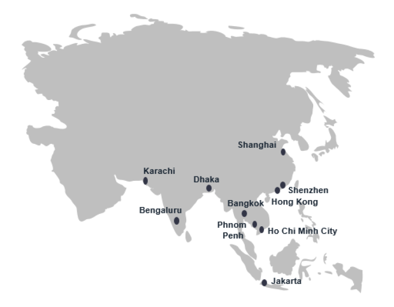 China, Indian Subcontinent, South East Asia – Global Sourcing