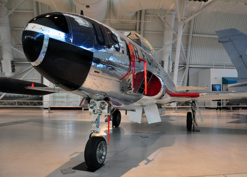 T-33a Aircraft on display at the Udvar-Hazy Center, the Smithsonian National Air and Space Museum's annex.