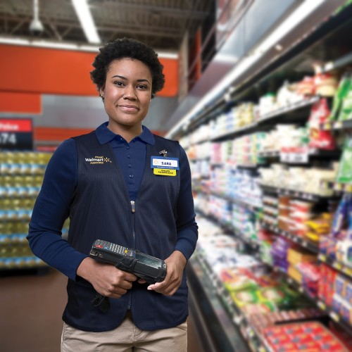 Military veteran working in Walmart store