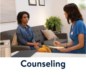 Woman with Counselor