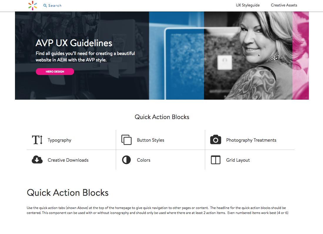 UX Guidelines AEM